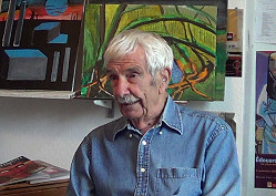 Gordon in his studio